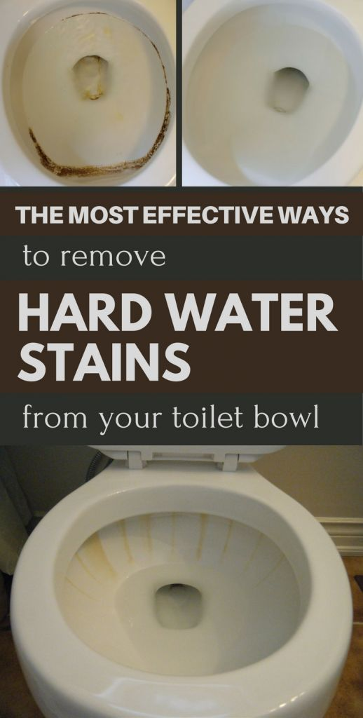 The most effective ways to remove hard water stains from your toilet bowl.