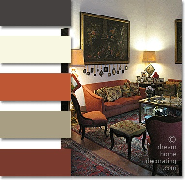 Great Palazzo Living Room: Tuscan Colors