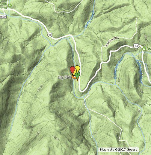 View trail info & photos: http://ashevilletrails.com/cashiers-highlands-nc/dry-falls-nc-waterfall-hike/