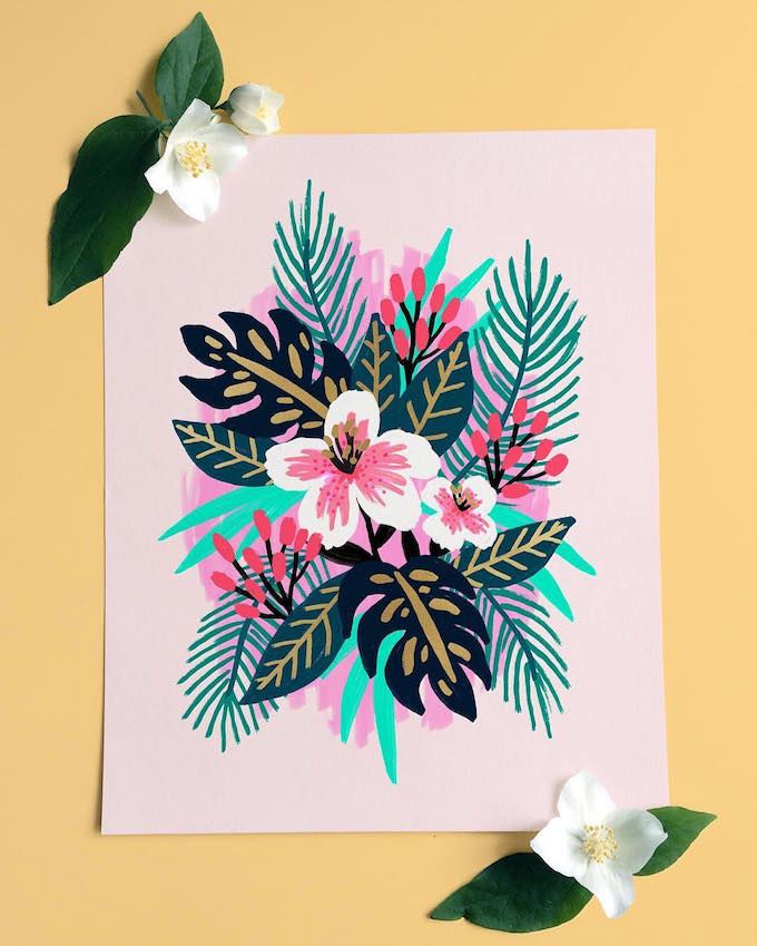 Floral painting by Jess Phoenix