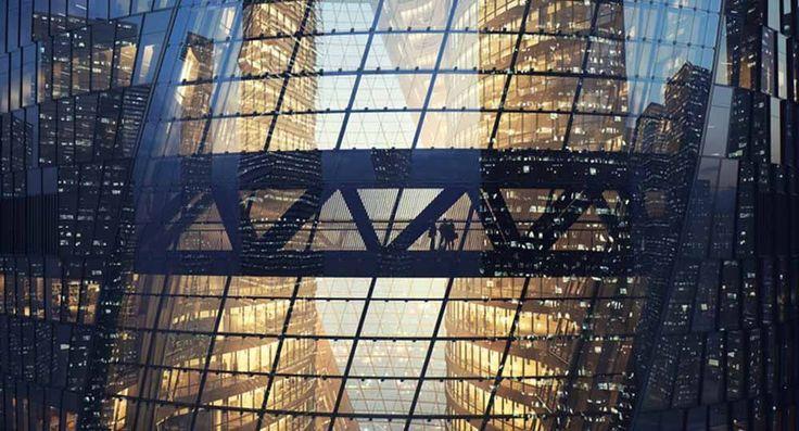 Infografía de la torre Leeza Soho, Beijing (China). Zaha Hadid Architects. Fotografía: MIR