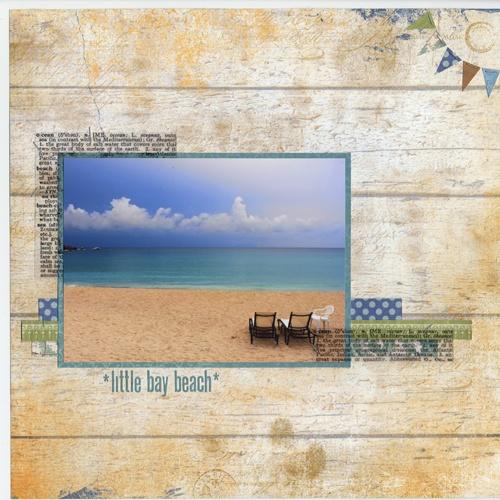 Little Bay Beach Scrapbook Layout: Scrapbook Ideas, Layout Ideas, Scrapbook Layout, The Beach