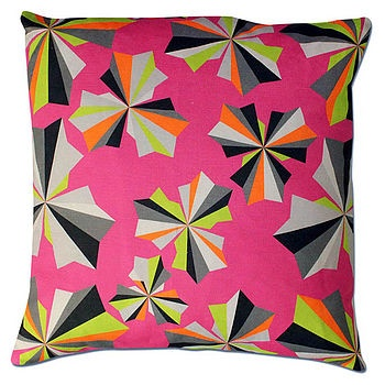 Stars Patterned Cushion Cover  by NeonSherbet