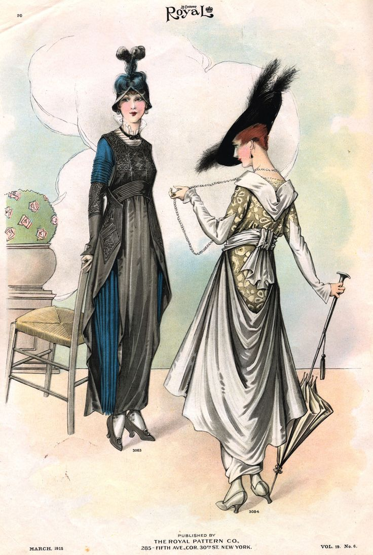 from a 1915 Gimbels fashion magazine, courtesy the blog Historically Romantic