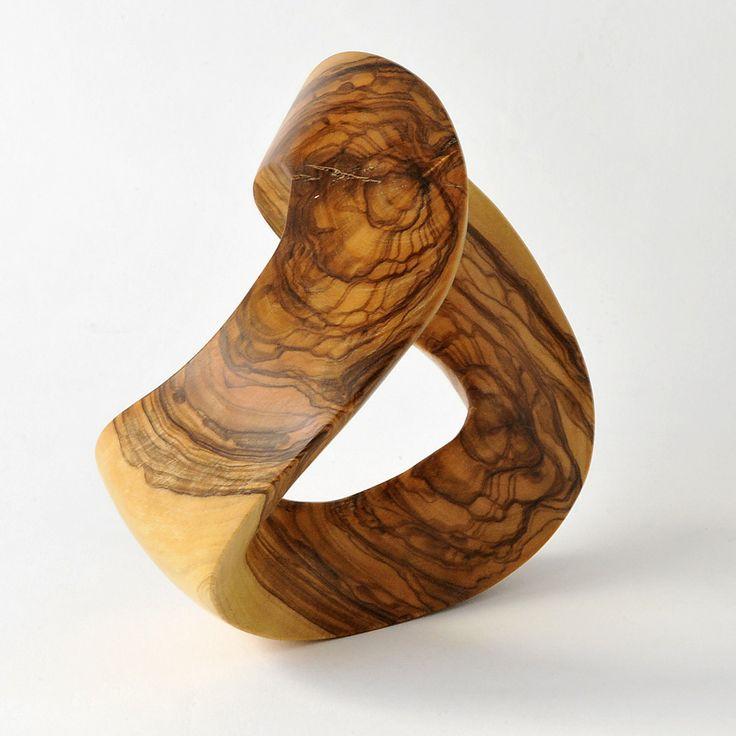 Escultura moebius madera de olivo autor luis cl a - Esculturas de madera abstractas ...