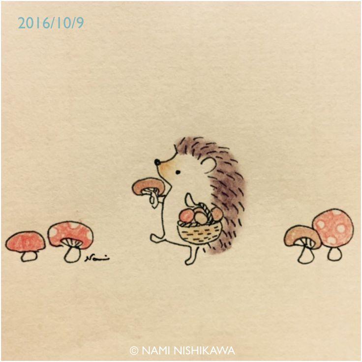 995 きのこ狩り mushroom hunting