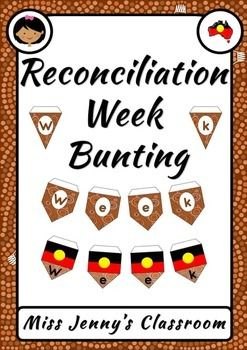 Every year we celebrate Reconciliation Week to develop and maintain strong relationships between the Aboriginal people and those living in Australia.How do I use this?Print, trim, glue the tab back (leaving room for string) and you're ready to go!What's included?3 versions which all spell out 'Reconciliation Week'This set fits perfectly under my Alphabet Word Wall headers.---------------------------------------------------------------------------------------------------Missing something you…