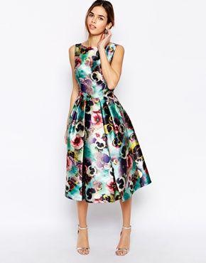 Chi+Chi+London+Allover+Floral+Full+Prom+Skater+Dress