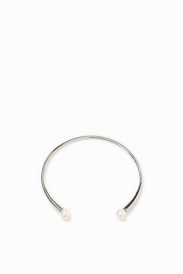 Esprit - Armspange aus Edelstahl, mit Perlen