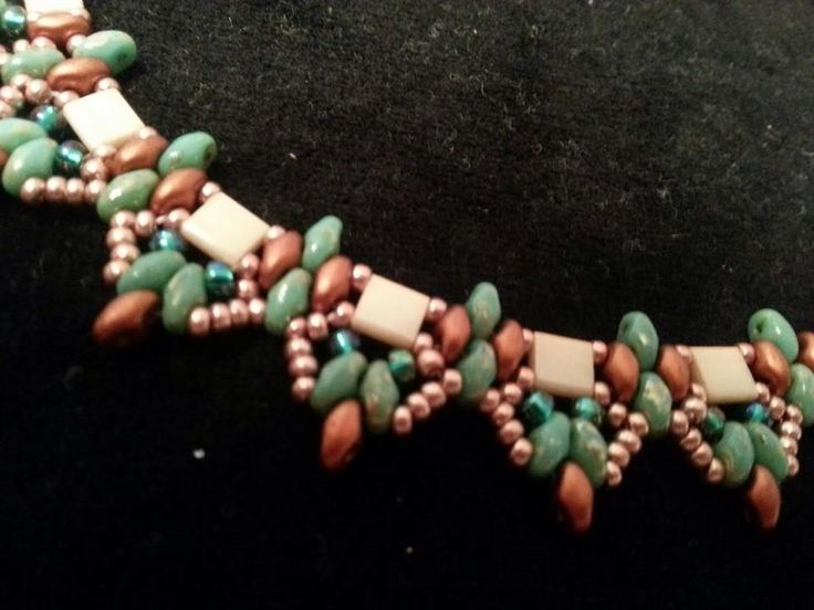 Like the use of Tila beads in this piece.
