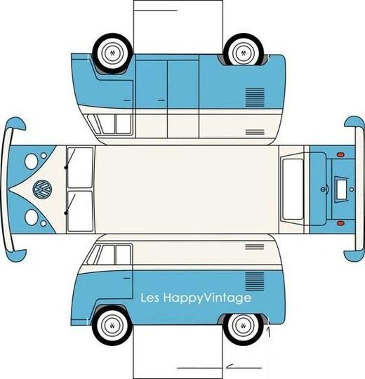 VW Van at Les Happy Vintage