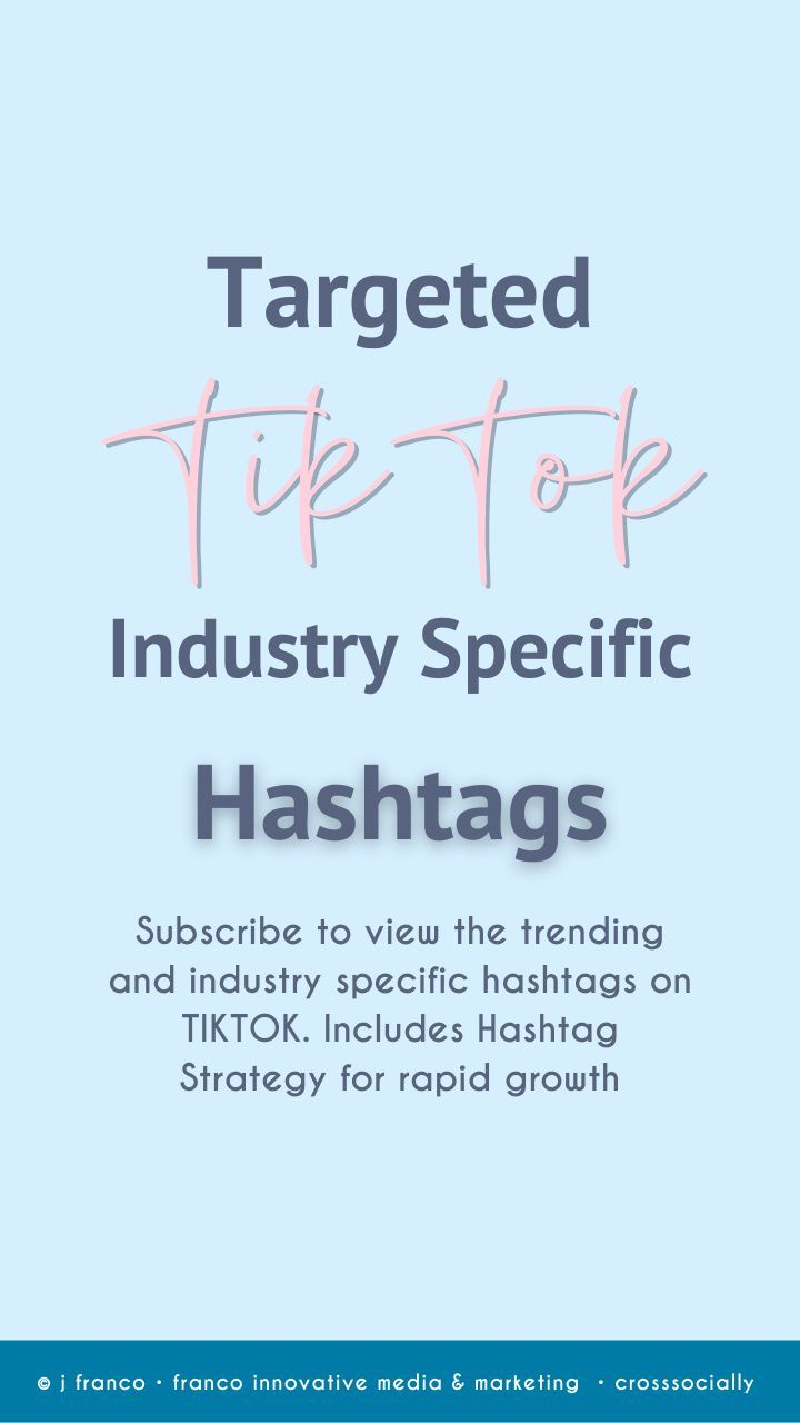 Targeted Tiktok Hashtags For Growth Marketing Guru Social Media Strategies Target Audience