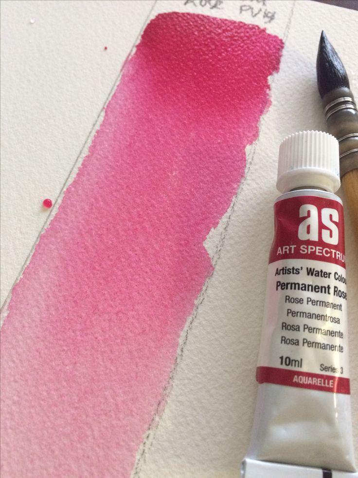 SPOTLIGHT on Permanent Rose PV19 blog piece on pigment Art Spectrums paint