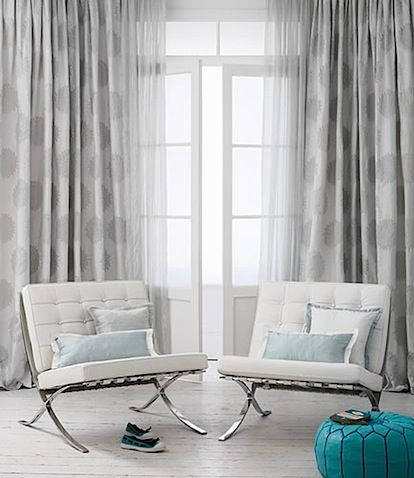 Love these chairs and drapes