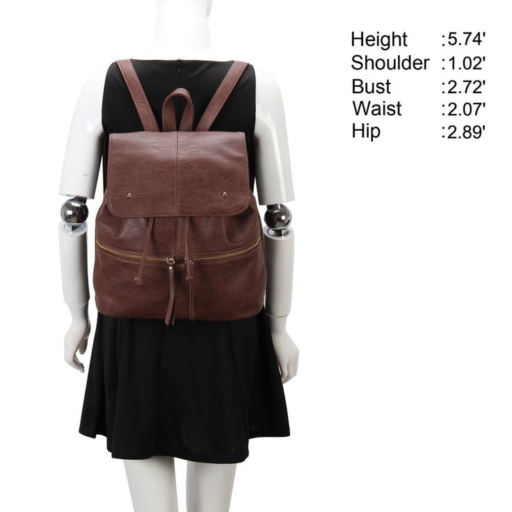 Veevan Womens Designer New Retro Casual Drawstring Backpack (Brown): Amazon.co.uk: Luggage