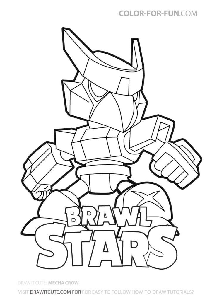 Mecha Crow Brawl Stars Coloring Page Color For Fun In 2020 Star Coloring Pages Coloring Pages Cool Coloring Pages