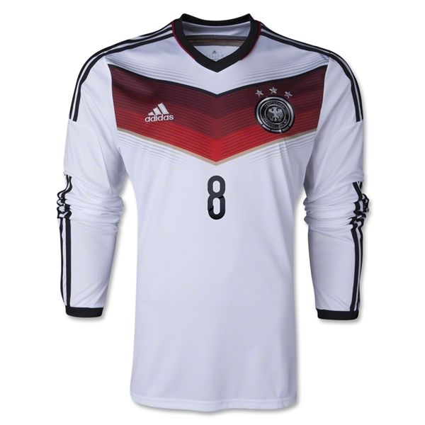 de5a0c92c4e 2014 FIFA World Cup Germany Mesut Ozil 8 Long Sleeve Home Soccer Jersey