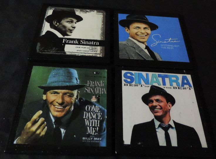 Frank Sinatra Drink Coaster Set - Old Blue Eyes - Tile Drink Coasters 4 Piece Set by TheCoastalWorkshop on Etsy
