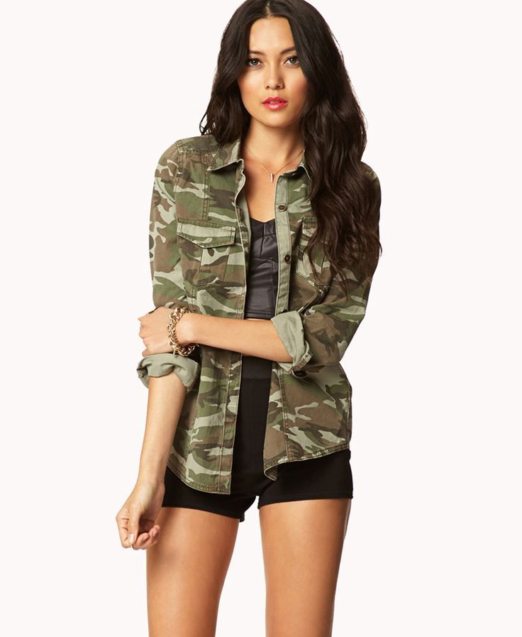 Camo Shirt | FOREVER21 IVE BEEN LOOKING FOR ONE OF THESE...NEED NOW only $27.80 on the website!