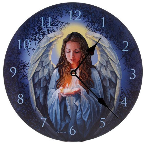 Wall Clock Angel Guardian Home Decorative Fantasy by getgiftideas