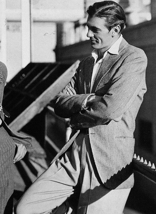 Gary Cooper - He was suave, yet with an irresistible boyish charm. A real cutie. Am I allowed to call him a cutie?