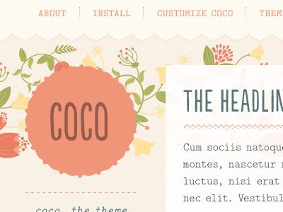 Coco Tumblr Theme  by Regina CasaleggioWeb Design, Web Elements, Cake Website, Website Design, Gui Web, Awesome Website