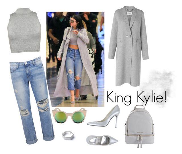 """King Kylie!"" by mariapap624 on Polyvore featuring Current/Elliott, WearAll, L.K.Bennett, DV Jewellery, MICHAEL Michael Kors and Stuart Weitzman"