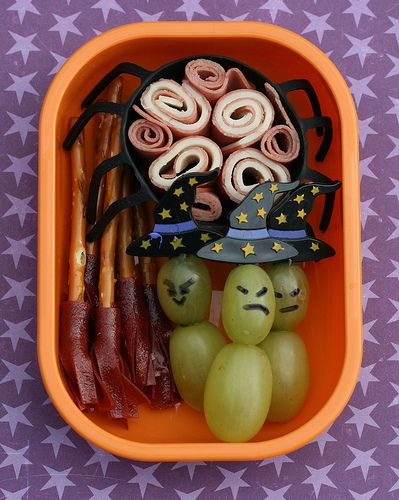 Really cute lunch ideas: Bento Boxes, Kids Lunches, Witch, Schools Lunches, Lunches Boxes, Lunches Ideas, Halloween Snacks, Halloween Lunches, Lunchbox