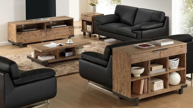 Industrial 4 Piece Lounge Room Package - Lounge Life