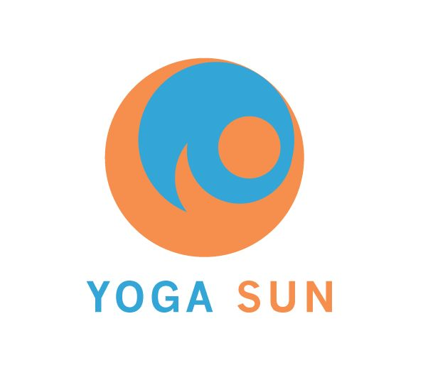 A logo design for yoga sun