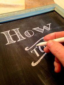 how to sharpen chalk, chalkboard paint, crafts
