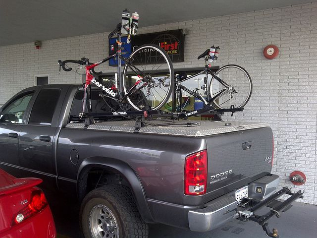 Diamondback Truck Cover With Yakima Rack Bike Rack