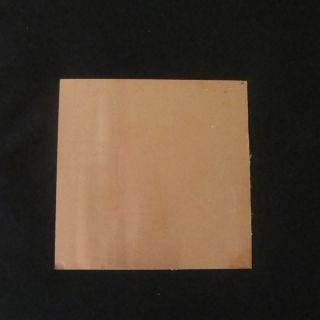 Měděný plech 20x20 cm/0,5 mm