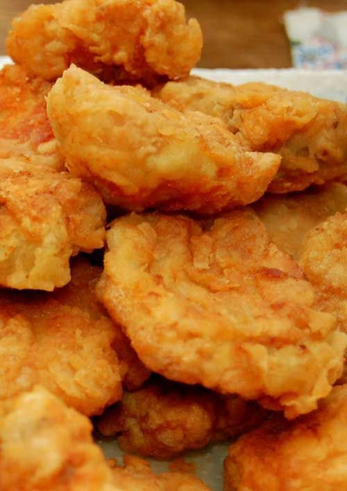 Homemade Chicken Nuggets - The best part is knowing exactly what's in these little chicken goodies and knowing there aren't any preservatives or mystery ingredients either.