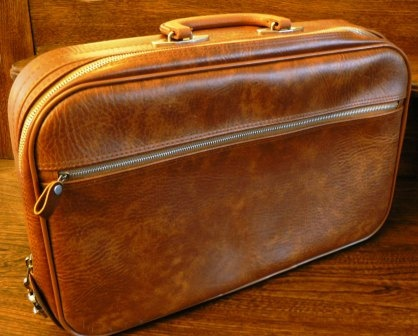vintage luggage Soft sided Small and perfect for your iPad briefcase or a doll clothes collection by LandLockedCottage on Etsy, $35.00
