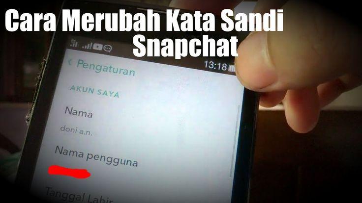 Cara Merubah Kata Sandi Snapchat di Android  Bagaimana cara Reset Password Snapchat atau lebih jelasnya mengganti sandi snapchat agar lebih aman dari mantan yang sudah kita bagi segalanya buat dia yang dulu pernah menjadi bagian hidupmu