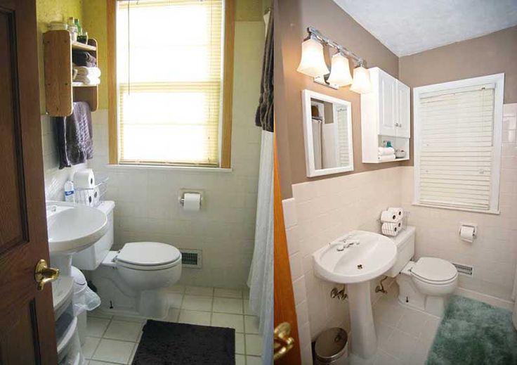 Older model mobile home makeover before and after for Remodeling bathroom ideas older homes