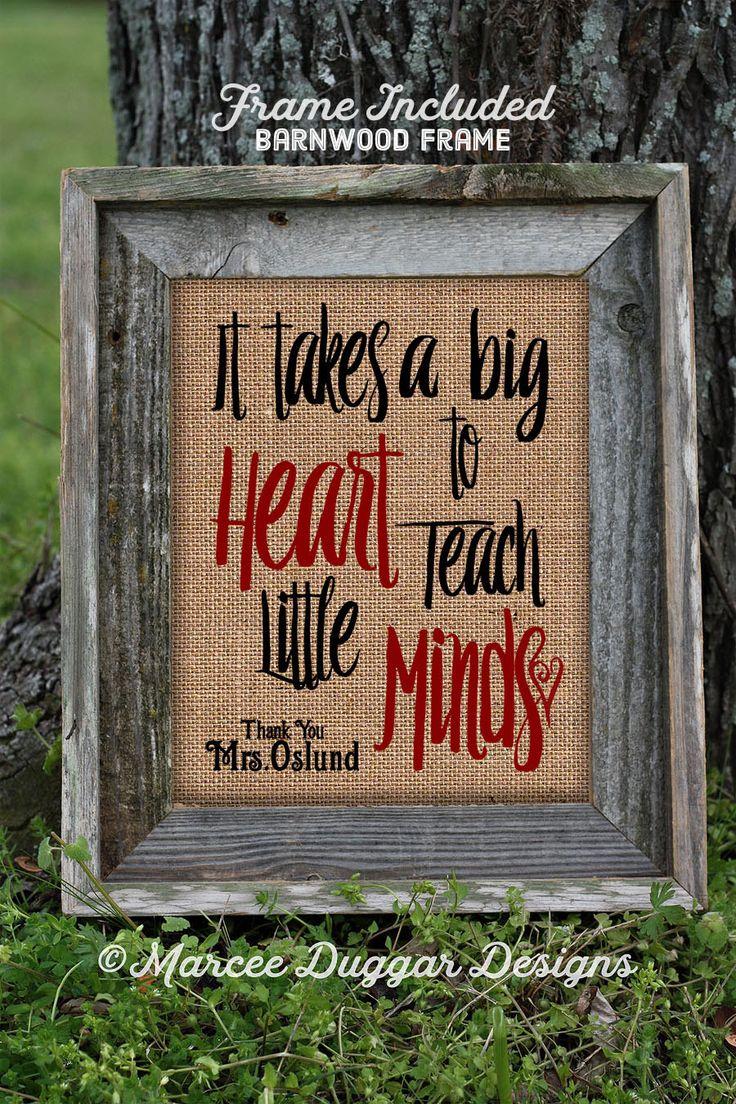 Framed Teacher Gift | Teacher Christmas Gift | Teacher End of Year Gift | Personalized Teacher Gift | Burlap Print | 112 by MarceeDuggarDesigns on Etsy