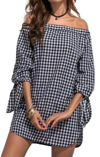 Shirt-Dress  Specifications: Decoration:None Clothing Length:Regular Sleeve Style:Regular…