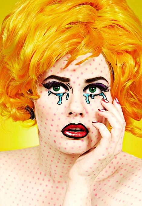 Roy Lichtenstein make up. AWESOME!