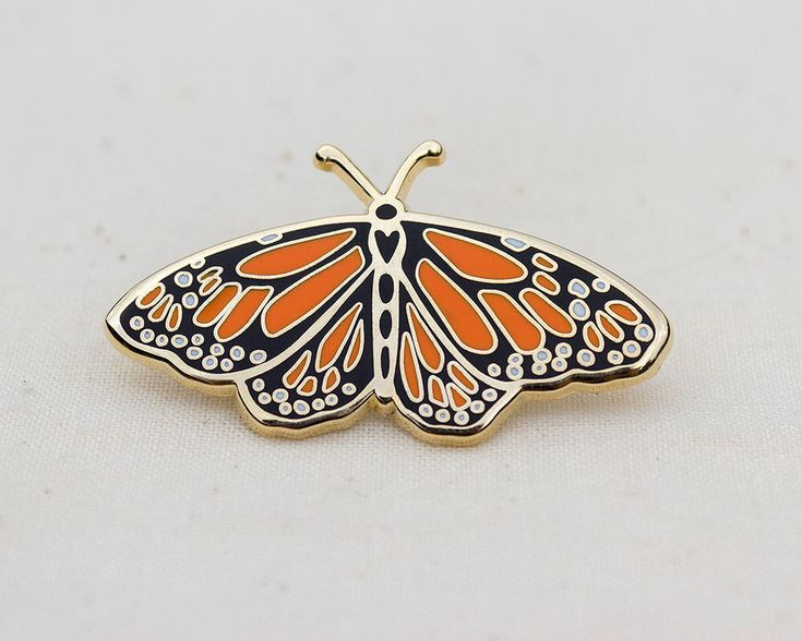 Monarch Butterfly Enamel Pin by wildship on Etsy