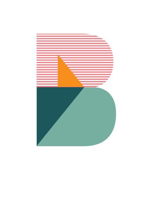 """Typographic Poster Geometric """"B"""": Nicole Phillips"""