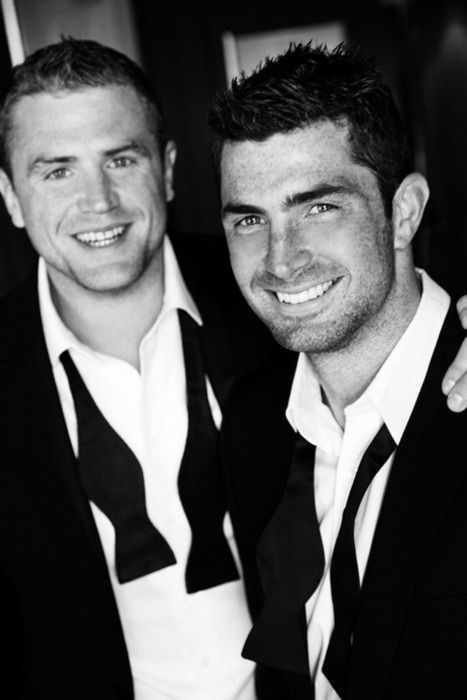 Rugby men. The adorable Jamie Heaslip with the handsome Rob Kearney