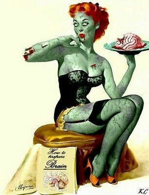Zombie Pin Up- Halloween