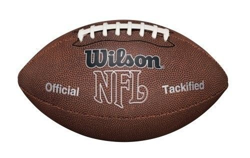 Official Size Football Nfl Brown Leather Mvp Balls Game Play Pro Team Sports  #Wilson