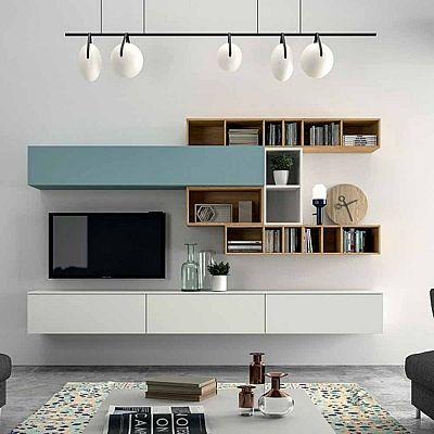 Minimalist 'Light Blue' TV Unit. Beautiful, elegant and delicate design, luxury materials. My Italian Living