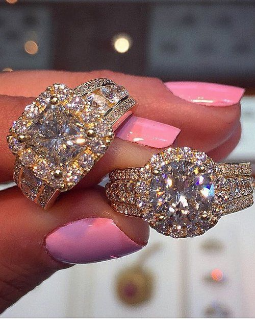 Engagement ring and wedding rings from Jean Pierre Jewelers / http://www.deerpearlflowers.com/engagement-rings-from-jean-pierre-jewelers/4/