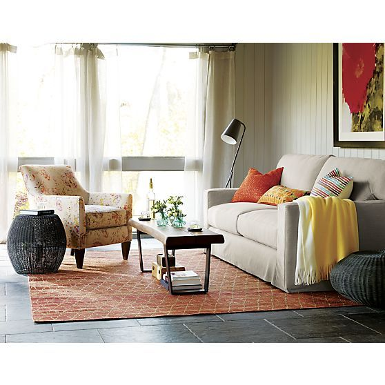 Axis Ii Slipcovered 2 Seat Queen Sleeper Sofa In Sofas Crate And Barrel