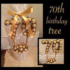 70th birthday tree