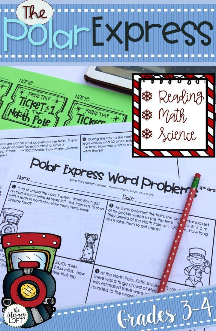 The Polar Express Math Science And Reading Activity Bundle Polar Express Math Word Problems Math Words